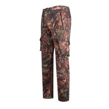HM15007-2 Men's polyester camouflage printed woven softshell hunting pants with pocket