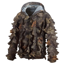 HM15013-1 Men's polyester camouflage printed woven hunting jacket with hood