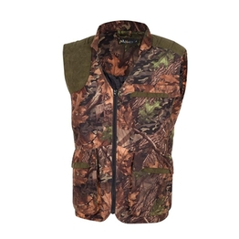 HM15005 Men's polyester camouflage printed knitted hunting vest with pocket
