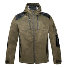 HM17001-1 Men's woven hunting jacket with hood and pocket