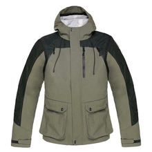 HM17003-1 Men's woven hunting jacket with hood and pocket