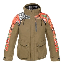 HM17003-2 Men's camouflage printed knitted hunting jacket with hood and pocket