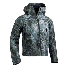 HM17005-1 Men's polyester camouflage printed woven hunting jacket with hood and pocket