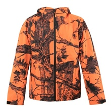 HM17006-5 Men's polyester camouflage printed woven 2 layer hunting jacket with hood and pocket