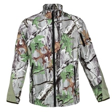 HM17016-1 Men's polyester camouflage printed woven hunting jacket with pocket