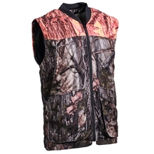 HM19014 Men's polyester camouflage printed knitted hunting vest with pocket