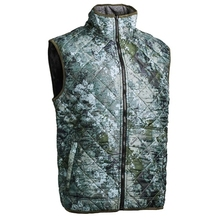 HM19015-1 Men's polyester camouflage printed woven padded hunting vest and pocket