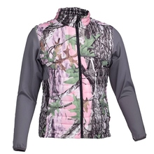 HW17006 Women's polyester camouflage printed woven padded hunting jacket and pocket