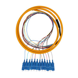 1.5m 2m FTTH Multimode 12 Core Sc lc APC UPC Fiber Optic Pigtails LC UPC Sc Or Apc Cable