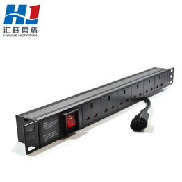 1U 19in Rack Mount 6 Way Schuko Euro Type Power Distribution Unit PDU With 3m Schuko Lead