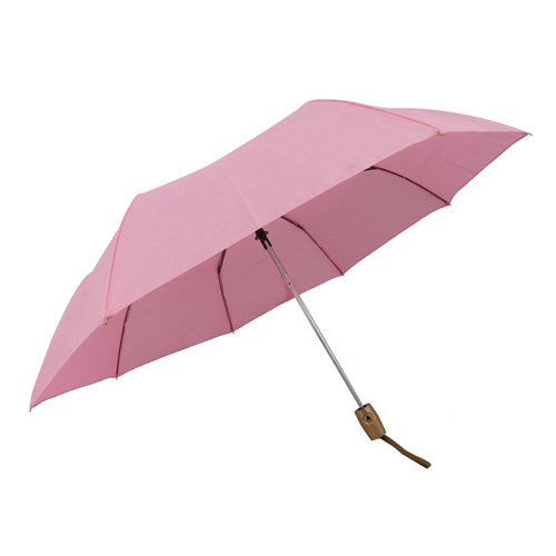 High Quality Pink 3 Folding Auto Opening Manual Close Sunshade Umbrella In Xiamen