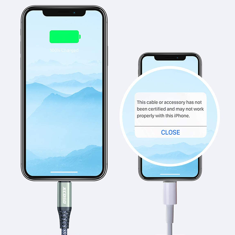 iphone C94 mfi Certificated USB- C to 8pin PD 18W fast charging lightning nylon braided usb cable