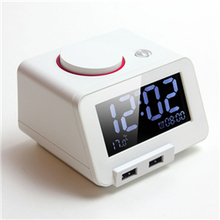 C1  Homtime Alarm Clock with dual USB charger and Temperature Reading