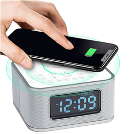 D2-QI  wireless phone charging alarm clock wireless charging alarm clock radio
