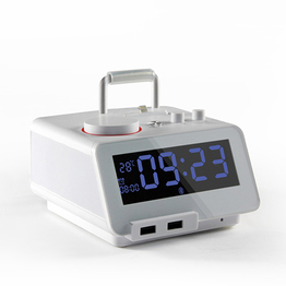 C12PRO  Homtime Docking Station Speaker for iPhone  and Bluetooth Speaker,FM Radio, Alarm Clock,Dual USB Charger