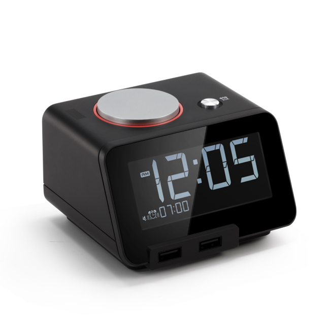 Homtime Vibrating Alarm Clock with Shaker,Night Light  and Speaker Function C2