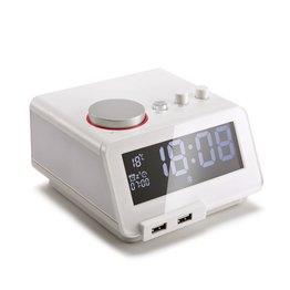 White C12 New Bluetooth Speaker  alarm clock best
