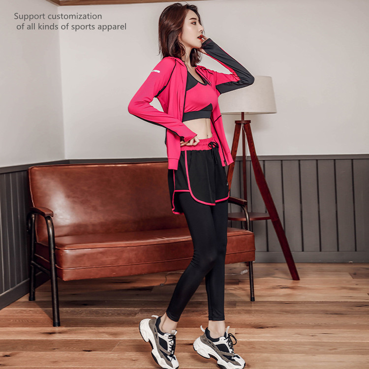 Thin and sexy running suit women's sportswear yoga suit running suit sports fitness suit