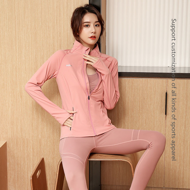 High waist fitness sexy sports yoga coat