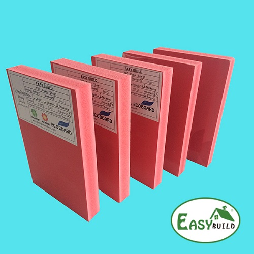 1220mm Width 5mm -30mm Red PVC Foam Board Manufacturer