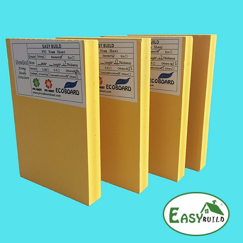 1220mm Width 5mm-30mm Yellow PVC Foam Board Manufacturer