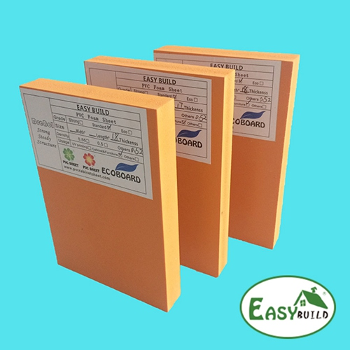 1220mm Width 5mm-30mm Orange PVC Foam Board Manufacturer