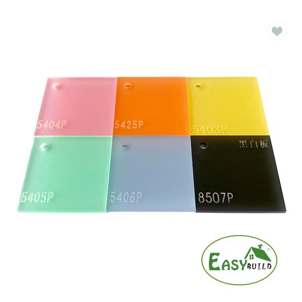2440x1220mm Frosted Color Acrylic Perspex 3mm Sheet For Decoration Logo Engraving