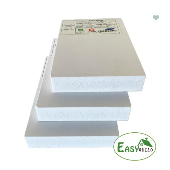 0.55 Low Density PVC Foam Board Hard Rigid Surface Cabinet Making Board
