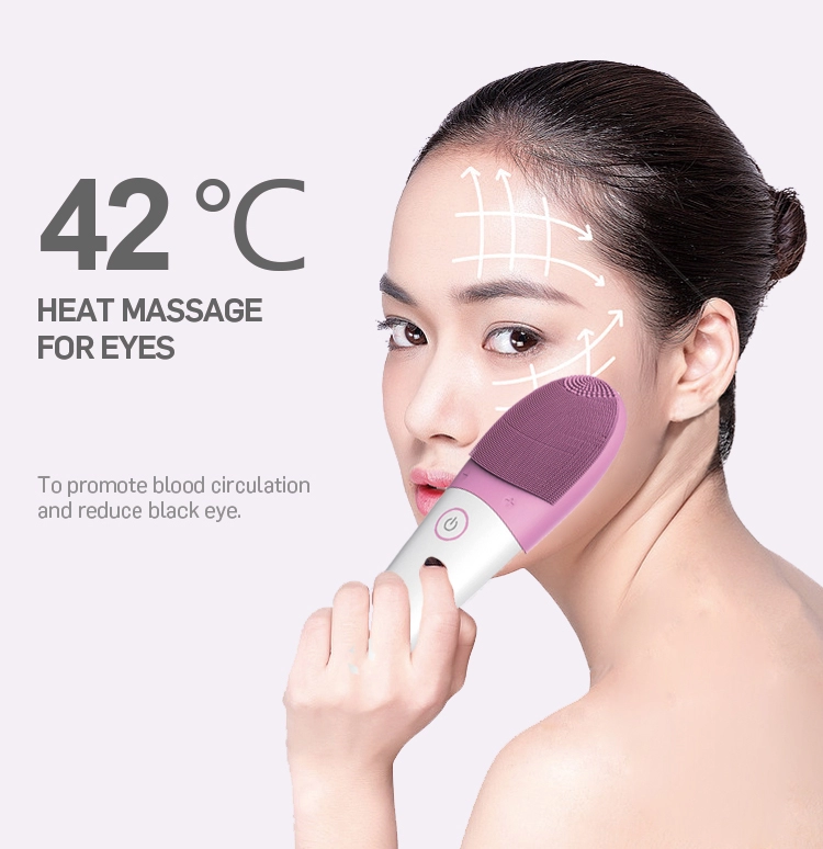 Multifunctional Waterproof Electric Silicone Facian Cleanser Portable Face Cleansing Brush