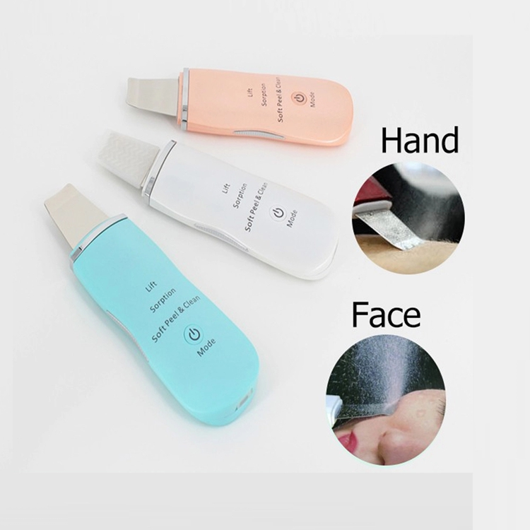 Rechargeable Ultrasonic Face Skin Scrubber Blackhead Removal Facial Cleaner Peeling Vibration Electric Pore Machine