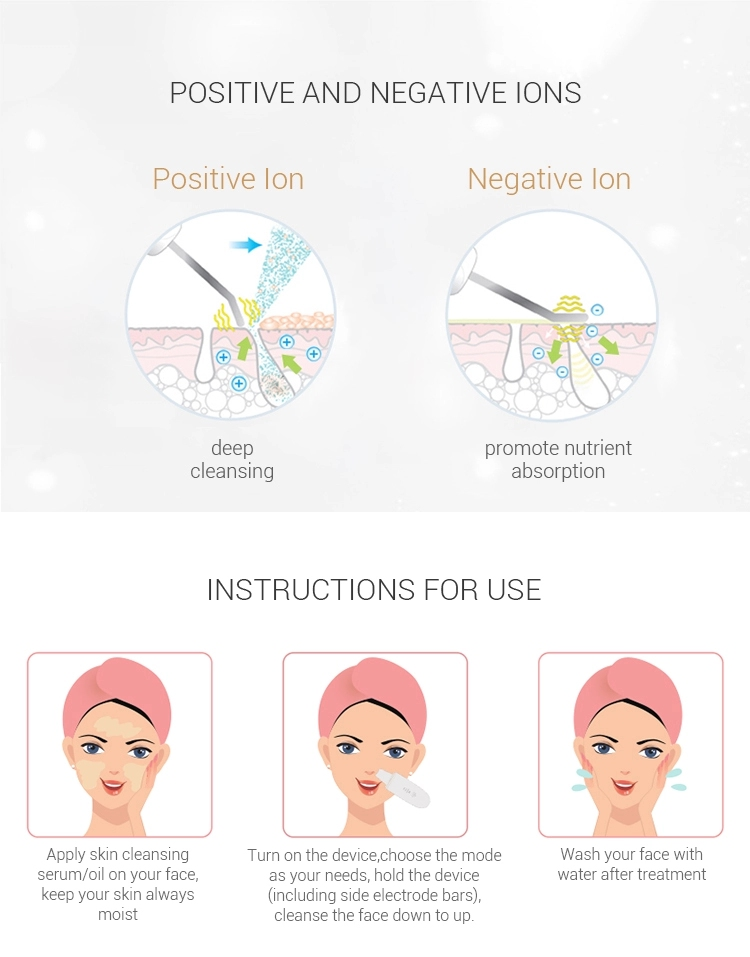 Ultrasonic Peeling Rechargeable Waterproof Skin Scrubber Blackhead Removal Cleaner Facial Vibration Message Exfoliator