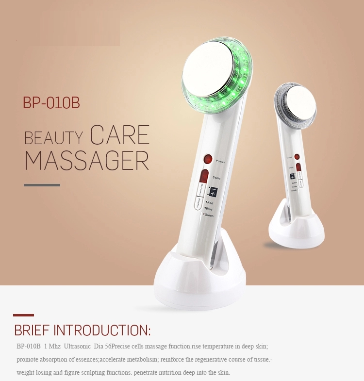 Portable5 In 1 Ultrasound Galvanic Photon Body Slimming Massager For Home Use