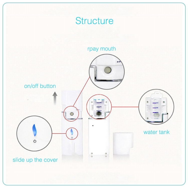 Nano Mist Spray Portable Mini Face Mist Beauty Facial Steamer Moisturizing & Hydrating For Skin Care