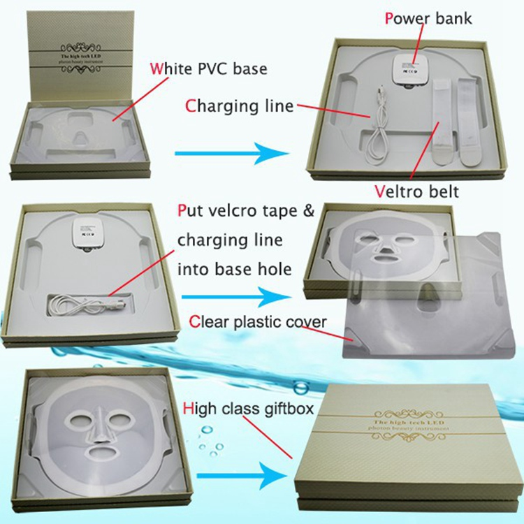Phototherapy Skin Rejuvenation Led Facial Mask With Photon Light Therapy