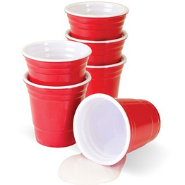 2oz Hard Plastic Melamine Party Shot Glasses Cups