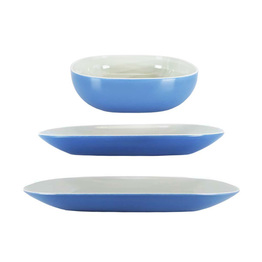 Melamine Square Dinner Tableware Set Indoor Or Outdoor