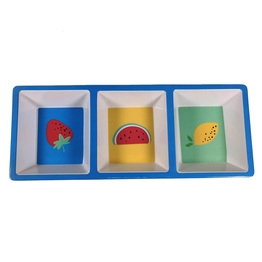 Melamine Coastal Divided Appetizer Tray And Serving Dish Dips Relish And Condiments Server Pineapple And Watermelon