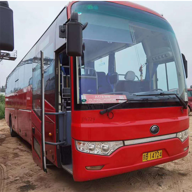 YUTONG Used Bus 2015 Year 51 Seats Emission Euro 4 Left Hand Drive Diesel Coach ZK6122HQBA Bus