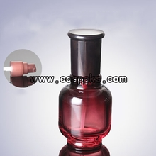 Glass Cosmetic Bottles Wholesale Red Painter with Cover