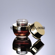 20g 30g 50g  Glass Containers with Gold or Silver Lids