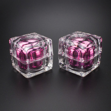 30ml Square Pink Acrylic Jar with Clear Lid