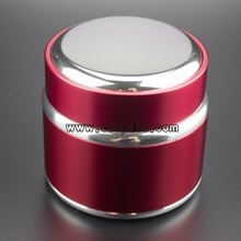 Red Wholesale Empty Aluminum Cosmetic  Jars