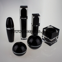 Black Pearl Skincare Package Jars and Bottles Wholesale