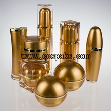 Gold Packaging for Skin Care Set for Wholesale