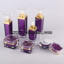 Purple Acrylic Skincare Packaging