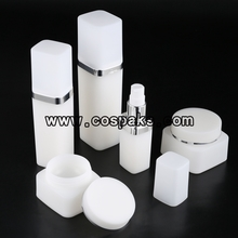 Square Plastic Cosmetic Package in Black or White