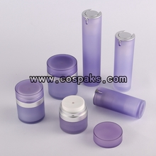 Frosted Acrylic Cream Airless Packaging in Purple