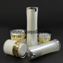 Gold Cosmetic Airless Packaging for Facial Cream