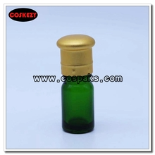 Multi-size Green Glass Bottle with Essential Oil Cap