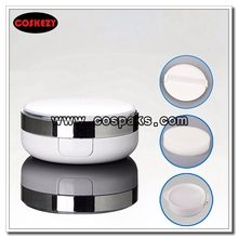 15g BB Cream Cushion Case in White with Silver Collar